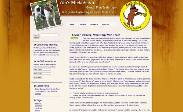 Ain't Misbehavin' Gentle Dog Training