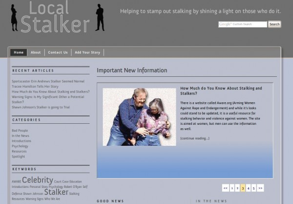 Local Stalker - A website dedicated to eradication of stalking